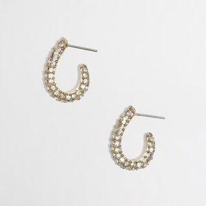 NWOT: J. Crew Crystal Hoop Earrings